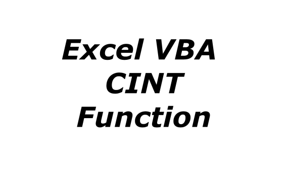 Excel VBA CINT function