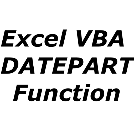 Excel VBA DATEPART function