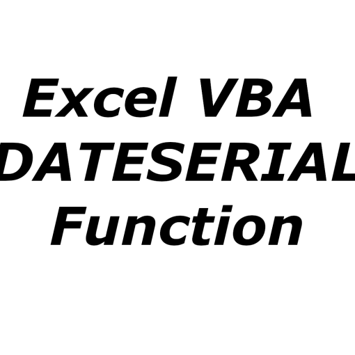 Excel VBA DATESERIAL function