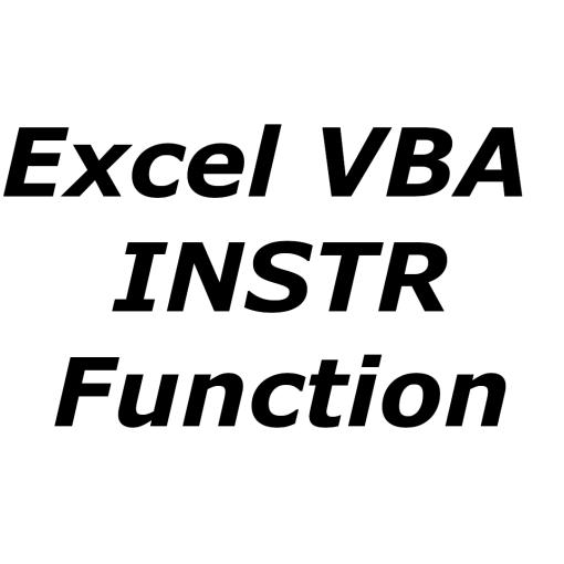 Excel VBA INSTR function