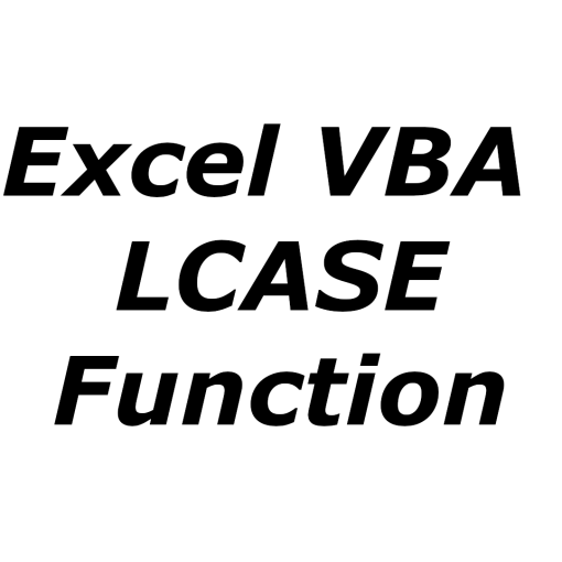 Excel VBA LCASE function