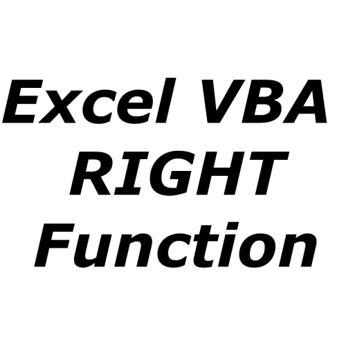 Excel VBA RIGHT function