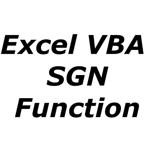 Excel VBA SGN function