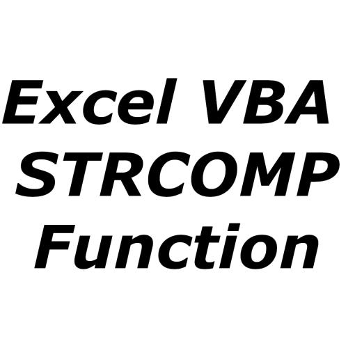 Excel VBA STRCOMP function