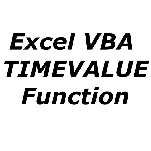 Excel VBA TIMEVALUE function