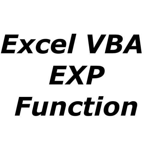 Excel VBA EXP function