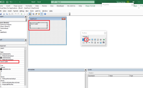 VBA Labels in Excel Spreadsheet and UserForm