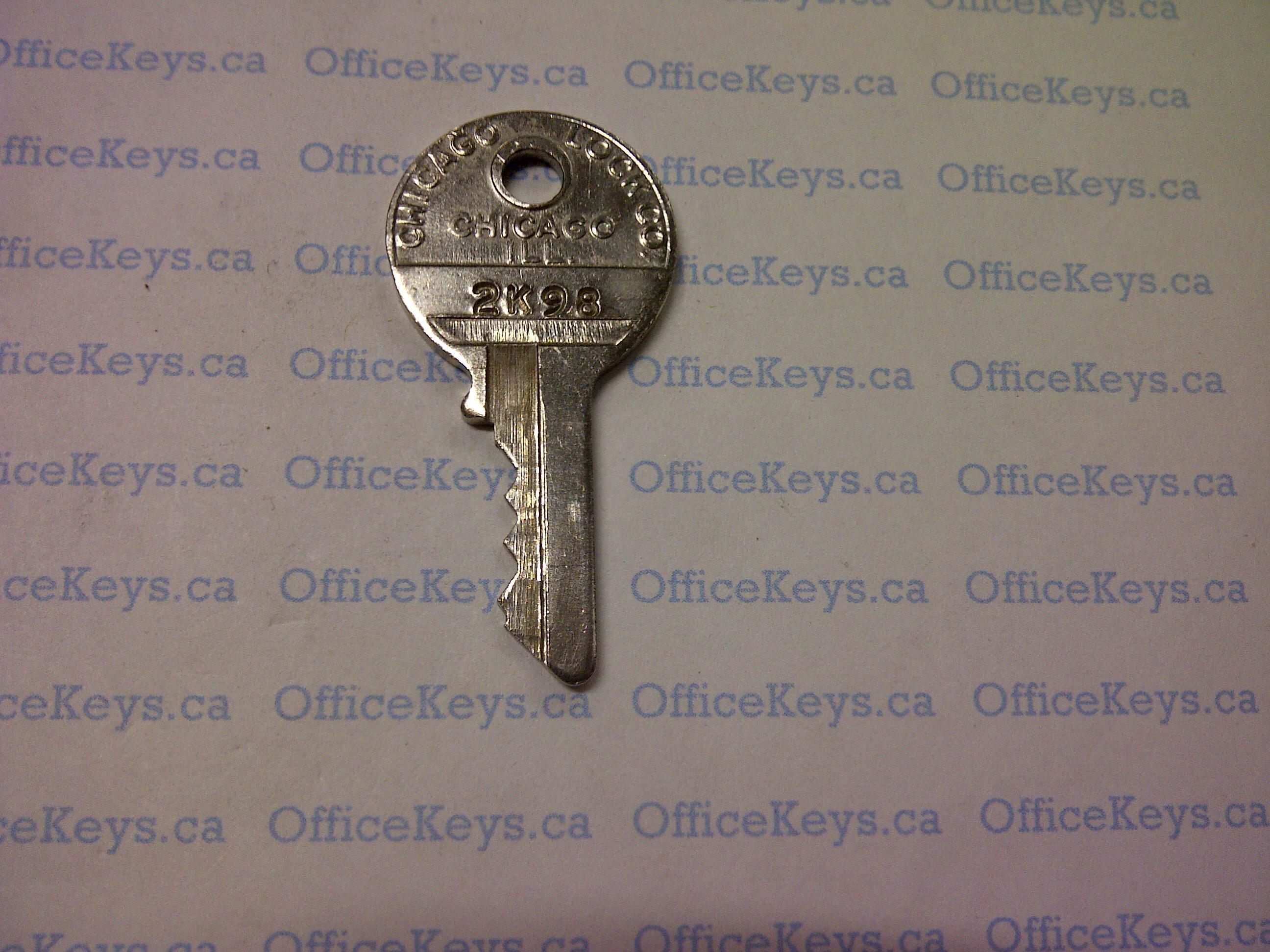 Chicago lock key codes