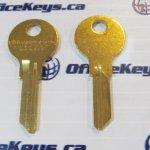 CompX Chicago Lock DK-101H Key Blank