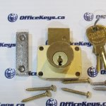 CompX National C8178 Drawer Lock Satin Brass