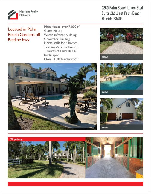 HOME FOR SALE! 7962.00 SF in PALM BEACH GARDENS 33418