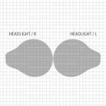 スズキ ハスラー MR31S (2014,1~) ヘッドライト PPF