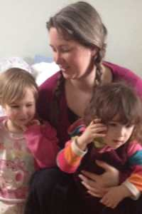 Lucy Pearce with daughters
