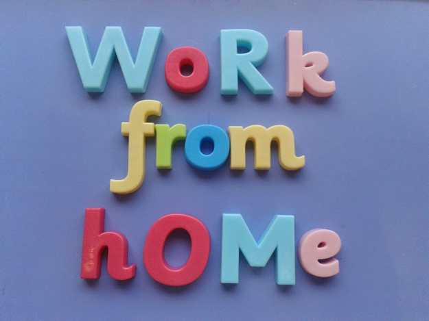work from home - office mum