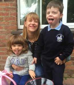 Maureen O'Rourke and kids