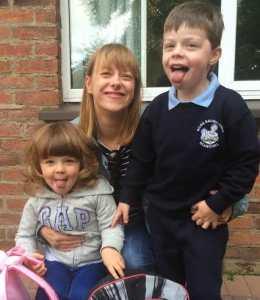 Maureen O'Rourke and kids