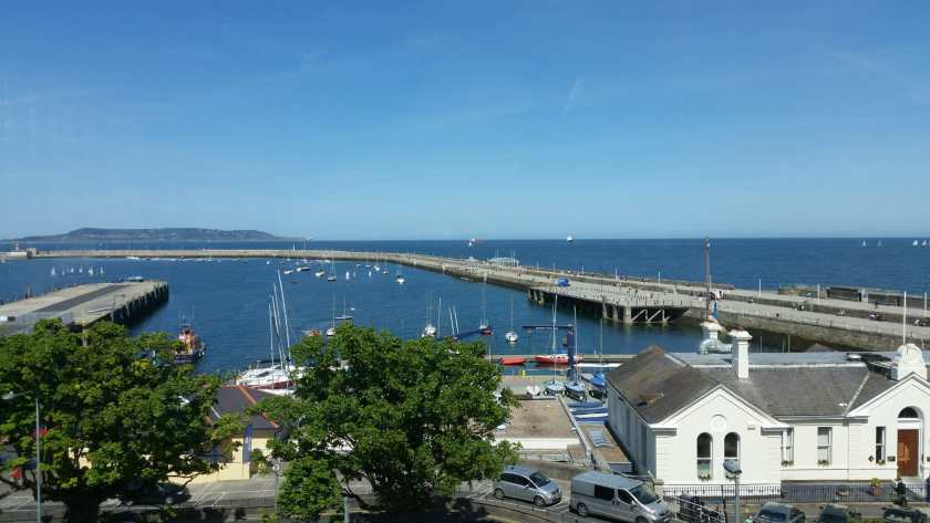 East Pier Dun Laoghaire from the library - Office Mum