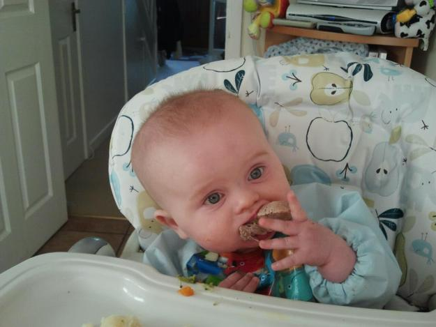 Baby-led weaning - office mum