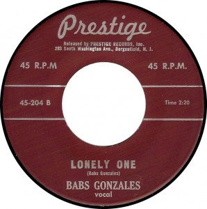 Babs Gonzales, Lonely One (Prestige 45-204B)
