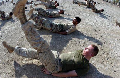 Marine Corps Flutterkicks