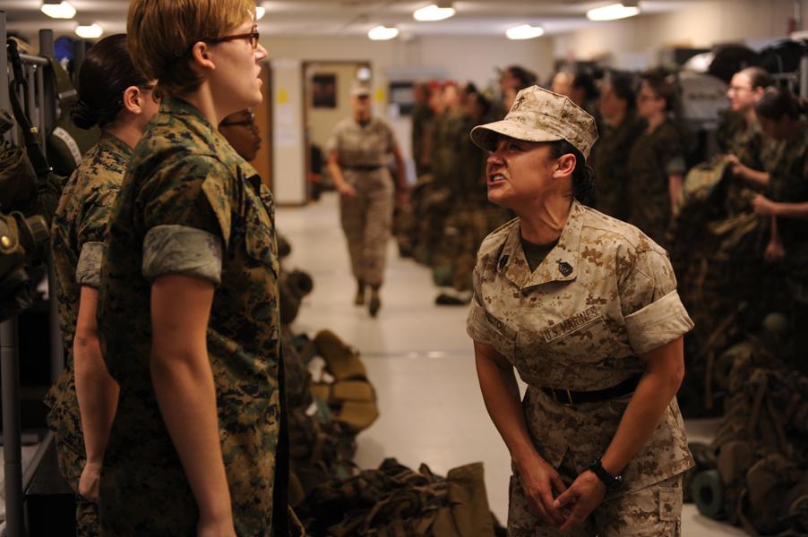Black female marines