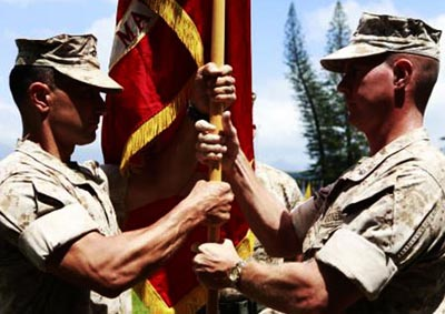 Sleeve Rolls at Change of Command Ceremony