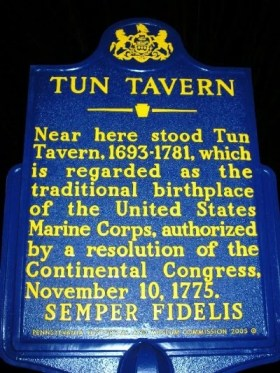 Tun Tavern Historical Marker in Philadelphia