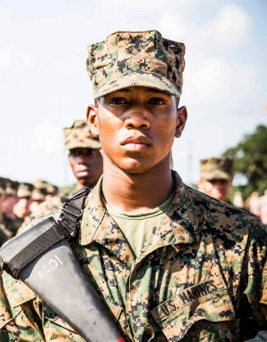 US Marine Recruit