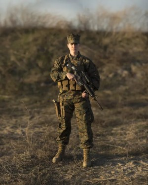 US Marine Capt. Rebecca Bergstedt is the officer in charge of a Female Engagement Team. ~Sgt. Matthew Callahan/US Marine Corps