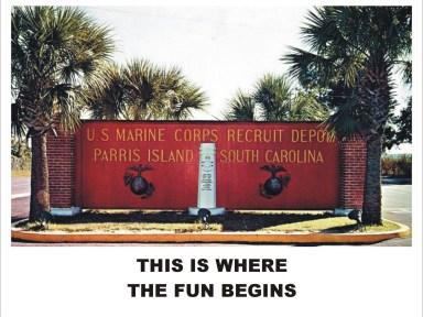 Parris island sign