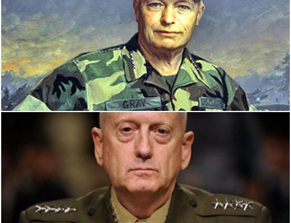 Marine Mustang Officers Generals Gray Mattis