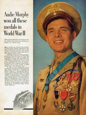 Audie Murphy Soldier Marine Mustang Officer Battlefield Commission