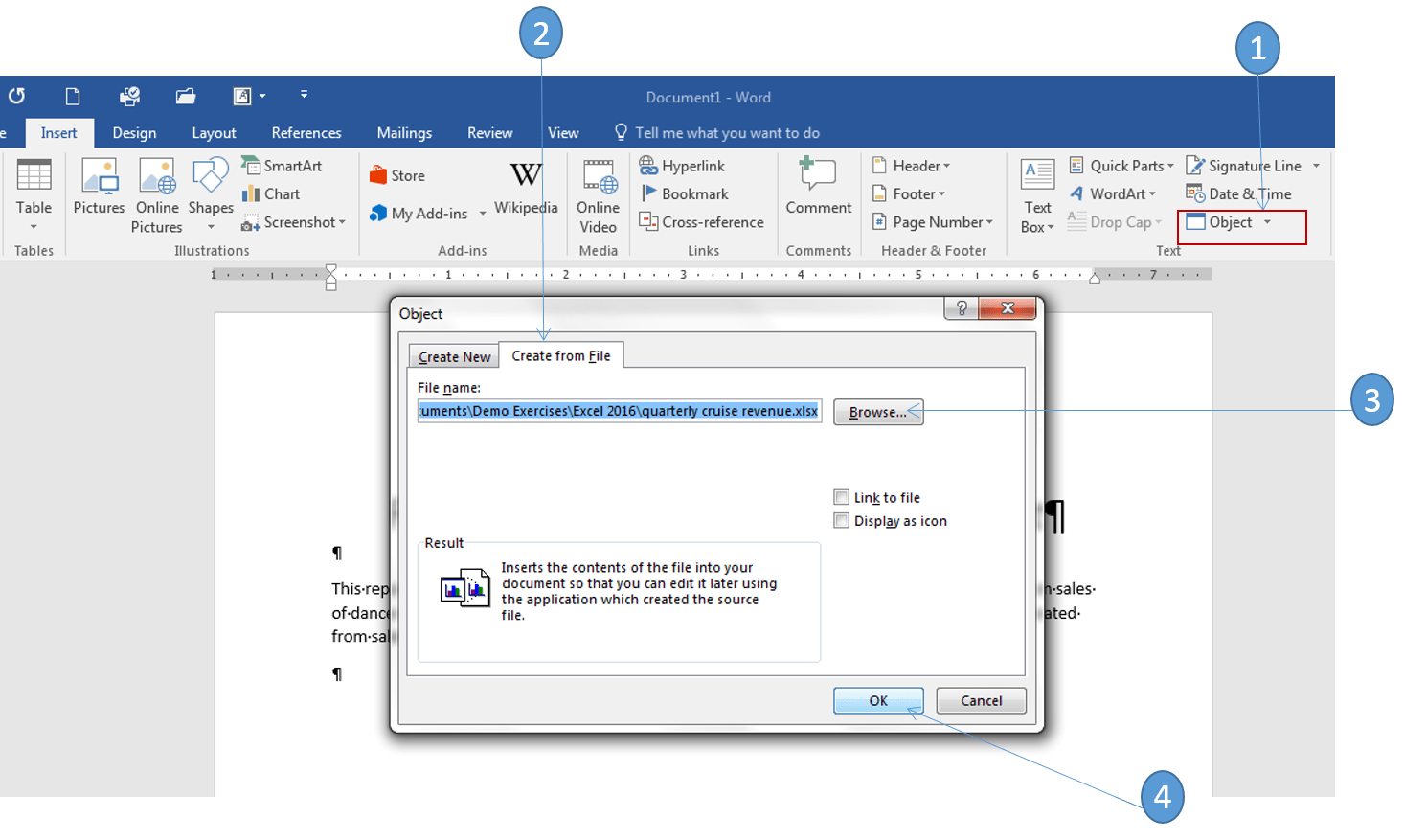 How To Link And Embed Excel Charts In Word