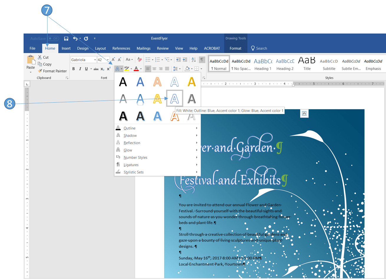 How To Use The Advanced Font Feature In Word To Enhance