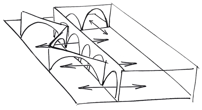Courtyard sketch diagram