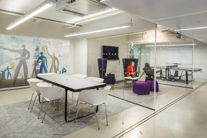 16 - A second meeting space is more relaxed, whilst the first features a ping-pong table