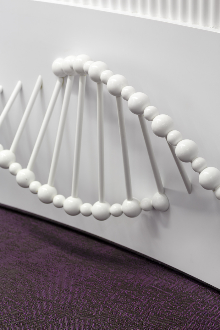 7 - Bespoke desk treatment inspired by the ever-evolving nature of DNA