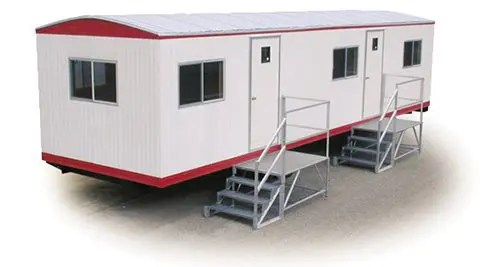 Temporary office trailers for retail sales centers