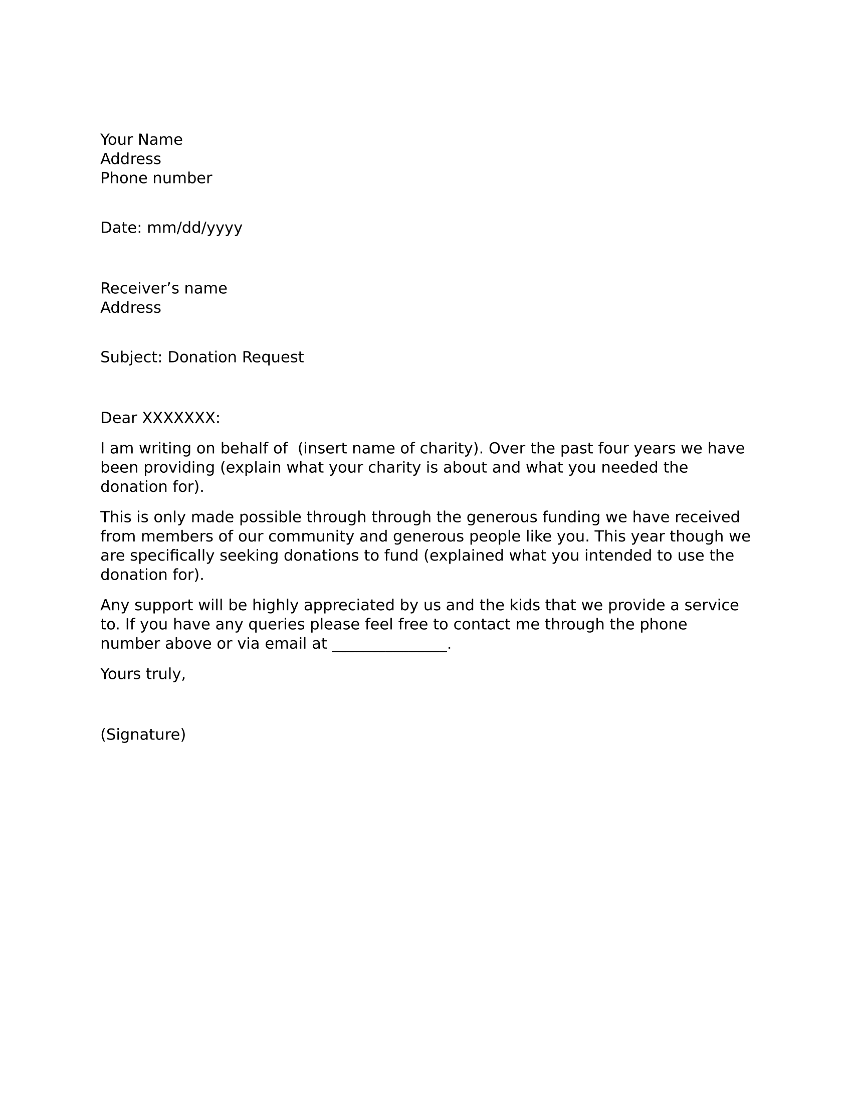 what is letter format