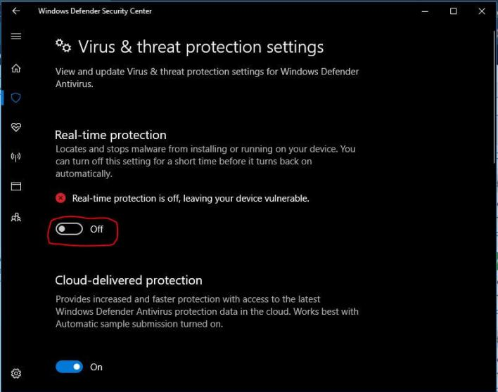 turn off-your-Windows- Defender