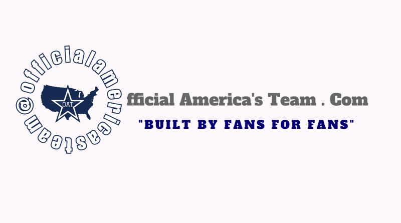 Official America's Team, America's Team, Dallas Cowboys, Built By Fans For Fans