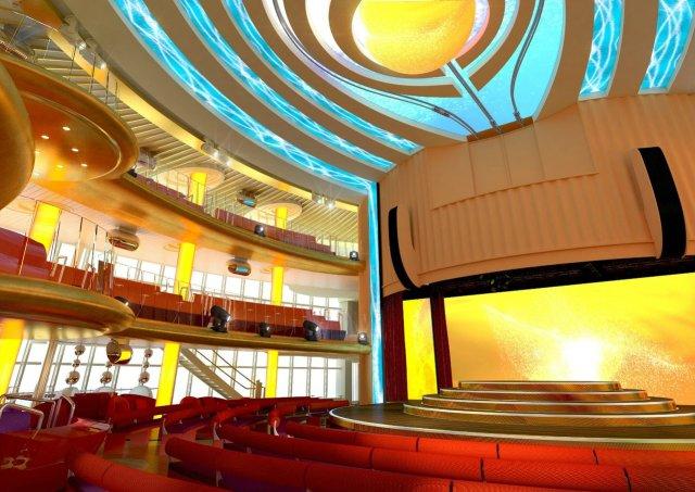 AidaCruises AidaPrima theatre