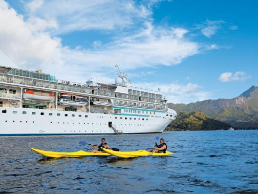 paul gauguin cruises cruise ship port exterior