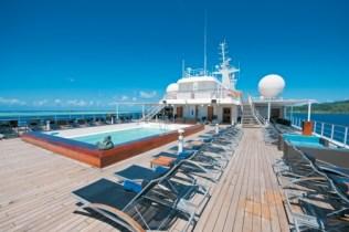 Paul Gauguin cruises cruise ship pool loungers