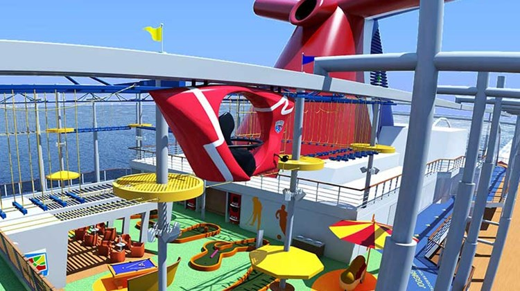 Carnival Vista has variety of fun features