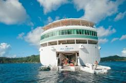 paul gauguin cruises cruise ship aft marina boats