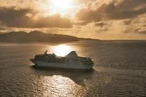 paul gauguin cruises cruise ship gold sunset