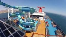 carnival cruise line splendour waterslide