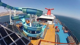 carnival cruise line splendour waterslide