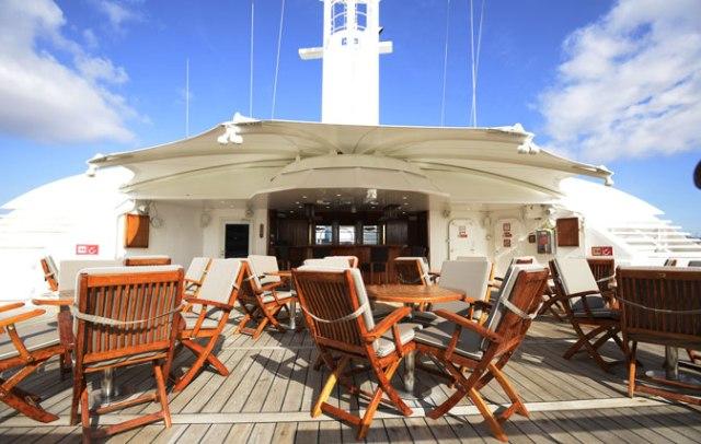 Windstar Cruise Star Pride top deck